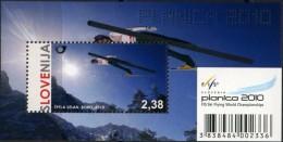 Slovenia, 2010, Mi. 841 (bl. 47), Sc. 832, SG 885, World Ski Jumping Championships, MNH - Jet Ski