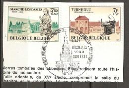 COB  1571/1572  (o)  Oblitération 1er Jour  (Lot 654) - België