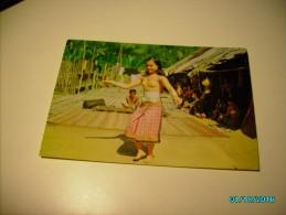MALAYSIA DAYAK GIRL DANCING , NUDE  ,  POSTCARD , O - Malaysia