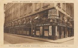 Restaurant Italien Poccardi - Grand Spumante Poccardi - Paris, Rue Favart - Edition Devambez - Restaurants