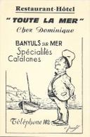 "Restaurant-H�tel ""Toute la Mer"" - Banyuls sur Mer - Sp�cialit�s Catalanes - Illustration - Carte non circul�e"
