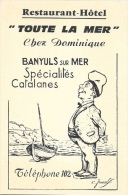 """Restaurant-Hôtel """"Toute La Mer"""" - Banyuls Sur Mer - Spécialités Catalanes - Illustration - Carte Non Circulée - Hotels & Restaurants"""