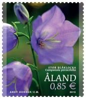 Aland 2015 Mih. 404 Flowers. Peach-Leaved Bellflower MNH ** - Aland