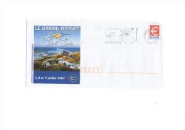 Cyclisme  - Tour De France Cycliste 2001 Côte D´Opale - Cycling - Vélo  (oblitération Sur Prêt-à-poster) - Cycling