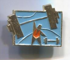 WEIGHTLIFTING - Sport, Vintage Pin Badge - Weightlifting
