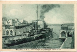 Regia Nave San Giorgio Al Passaggio Del Canale Di Taranto - Guerra