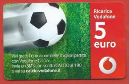 ITALIA - VODAFONE - RICARICARD - RICARICA - VODAFONE CALCIO - SCAD. DICEMBRE  2035 - 5 EURO - Italy