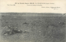 Guerre 14-18, En Champagne, Vision Du Champ De Bataille, Cadavres Au 1er Plan...., Voir Correspondance Du Poilu - Oorlog 1914-18