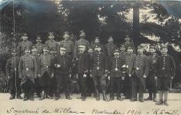SOUVENIR DE MILLAU - Militaires 123em Régiment, Photo Format 14x9cm. - Reggimenti