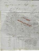 LETTRE Par ROUX Frères à MARSEILLE 1852  à GUISEPPE RAFFO HOMME POLITIQUE XIX° S. TUNIS TUNISIE TBE V.HIST+SCANS - 1800 – 1899