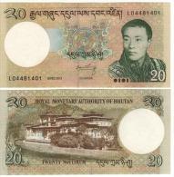 BHUTAN  20 Ngultrum  P30b  DATED 2013    UNC - Bhután