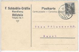 Switzerland: Postcard To Basel, Waldenburg Railway, 30 December 1920 - Belgium