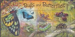 AUSTRALIA, 2003 BUGS/BUTTERFLIES MINISHEET MNH - 2000-09 Elizabeth II