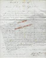 BELLE LETTRE Par AUGUSTE DURAND MARSEILLE 1855 à GUISEPPE RAFFO HOMME POLITIQUE XIX° S. TUNIS TUNISIE TBE V.HIST+SCANS - 1800 – 1899