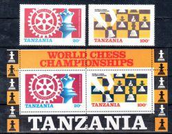 1986, Tanzania Série Et Blocs, Echecs, Neuf **, Lot 44373 - Schaken