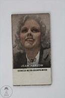 Old Trading Card/ Chromo Topic Cinema/ Movie - Spanish Advertising - Actress: Jean Harlow - Chromos