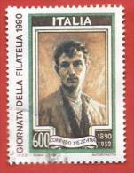 ITALIA REPUBBLICA USATO - 1990 - 5ª Giornata Della Filatelia - £ 600 - S. 1949 - 6. 1946-.. Repubblica