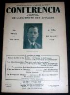 CONFERENCIA. 1929. 15. CROISSET. DELARUE-MARDRUS. DUSSANE. RAGEOT - 1900 - 1949