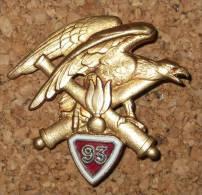 Insigne - 93° Régiment D'artillerie De Montagne - Drago - Armée De Terre