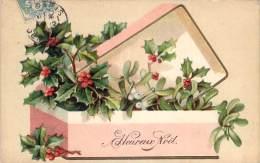 Fête De Noël - Heureux Noël (gaufrée) - Noël