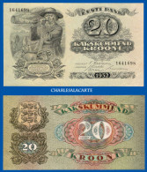 1932 ESTONIA  20 KROONI  SHEEP SHEPHERD BLOWING HORN  KRAUSE 64a EXCELLENT CONDITION FOR THIS OLD NOTE - Estonia