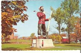 """""""Paul Bunyan"""" Mammoth Statue Erected In Bangor, Maine - Altri"""