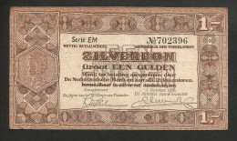 PAYS - BAS / NETHERLANDS / OLANDA - De Nederlandsche Bank / Zilverbonnen - 1 GULDEN (1938) - [2] 1815-… : Regno Dei Paesi Bassi