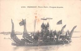 ¤¤  -  196  -  CAMBODGE  -   Pnom-Penh   -  Pirogues Royales  -  ¤¤ - Cambodia