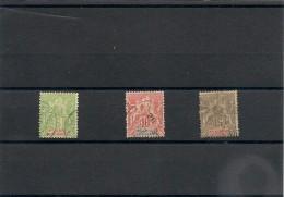 NOUVELLE CALÉDONIE Années 1900/04  N°Y/T :53/61oblitérés - Gebraucht