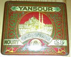 Empty Cigarette Tin YANSOUR NOURY For 20 Cigarettes - Ottoman Empire 1910 - Schnupftabakdosen (leer)