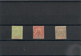 NOUVELLE CALÉDONIE Années 1900/04  N°Y/T :59/61oblitérés - Gebraucht