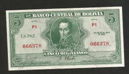BOLIVIA - El BANCO CENTRAL De BOLIVIA - 5 BOLIVIANOS (1928) - Bolivia