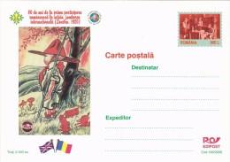 SCOUTING JAMBOREE, SCOUT, POSTCARD, LUXURY EDITION, 2000, ROMANIA. - Scoutisme