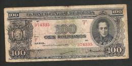 BOLIVIA - El BANCO CENTRAL De BOLIVIA - 100 BOLIVIANOS (1945) - Bolivia