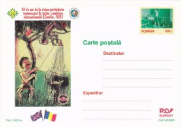 SCOUTING JAMBOREE, SCOUTS SHOWER, POSTCARD, LUXURY EDITION, 2000, ROMANIA. - Scoutisme