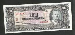 BOLIVIA - El BANCO CENTRAL De BOLIVIA - 100 BOLIVIANOS (LA PAZ - 1945) - Bolivia