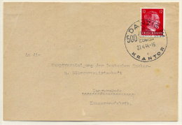 "DANZIG 1944 Envelope With Commemorative Postmark ""500 Jahre Krantor"", Code Letter C.  Wolff 41 (35 Points) - Danzig"