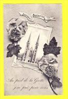 * Oostakker - Oostacker (Gent - Gand) * (Edit L. Collin Aalst) Souvenir Oostacker Lourdes, Fleurs, Flowers, Fantaisie - Gent