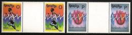 ZAMBIA 1993 MEDICAL HEART BEAT SPORT ATHLETICS GUTTER PAIRS SET MNH - Zambia (1965-...)