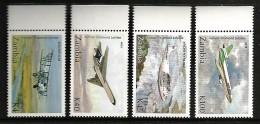 ZAMBIA 1992 AIRCRAFT AVIATION 60TH ANNIVERSARY OF AIRMAIL SERVICE SET MNH - Zambie (1965-...)