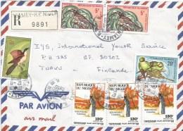 Niger 1988 Niamey Artist Comedian Koungoui Tockus Parrot Registered Cover - Niger (1960-...)