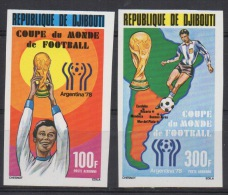 Djibouti Dschibuti 1978 IMPERF NON DENTELE Mi. 220-221 FIFA World Cup WM Coupe Monde Argentine Soccer Football Fussball - Dschibuti (1977-...)