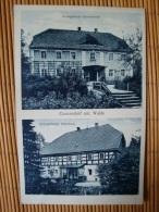 Kunzendorf Unt. Walde Kr. Löwenberg, Schl., Ev. Kirchschule + Pfarrhaus, Gel. - Schlesien