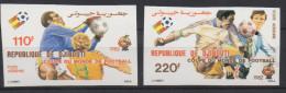 Djibouti Dschibuti 1982 IMPERF NON DENTELE Mi. 325-326 FIFA World Cup WM Coupe Monde Espana Soccer Football Fussball - Dschibuti (1977-...)