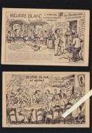 Nantes - Illustrateur J.Nozais - Lot De 2 CP - Beurre Blanc - Cuisine - Repas + Arrivée Restaurant - Nantes