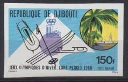 Djibouti Dschibuti 1980 IMPERF NON DENTELE Mi. 265 Jeux Olympiques D'hiver Winter Olympic Games Olympa Lake Placid Ski - Dschibuti (1977-...)