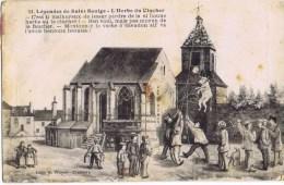 Cpa  LEGENDES DE SAINT SAULGES L HEBE DU CLOCHER - France