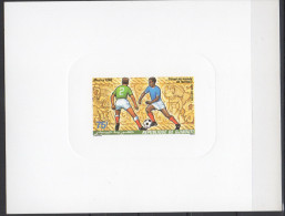Djibouti Dschibuti 1986 Epreuve De Luxe Proof Mi. 461 FIFA World Cup WM Coupe Monde Mexico Soccer Football Fussball - Dschibuti (1977-...)