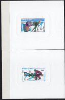 Djibouti Dschibuti 1984 Epreuve De Luxe Proof Mi. 397-398 Jeux Olympiques D´hiver Winter Olympic Games Olympa Sarajevo - Dschibuti (1977-...)