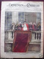 Domenica Corriere 1913 N. 34 Pellegrinaggi Papa Pio X-Lago Maggiore Contrabbando - Ohne Zuordnung